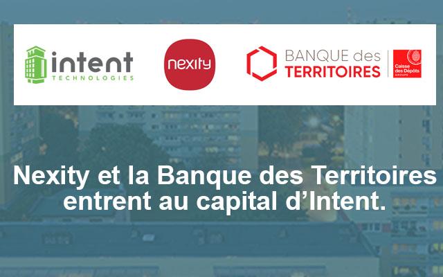 Nexity et la Caisse des dépôts entrent au capital d'Intent Technologies