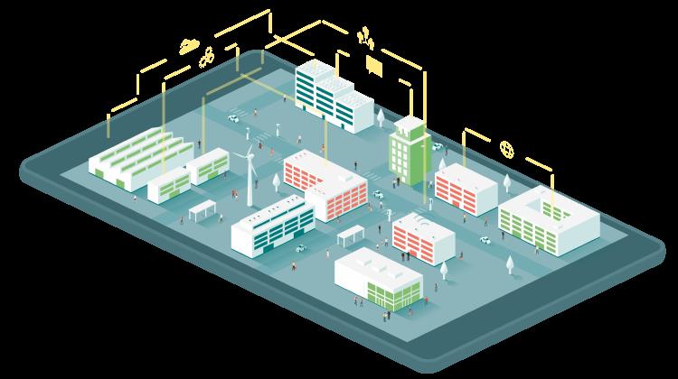 bâtiments connectés sur tablette